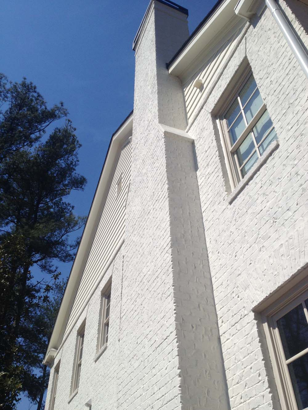 Beautiful Opaque Limewash Paint On Exterior Brick In